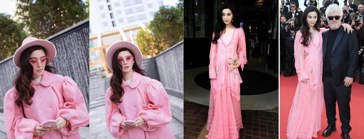 别看范冰冰37岁了,穿起粉嫩大衣仍和少女一样!网友:李晨有福了